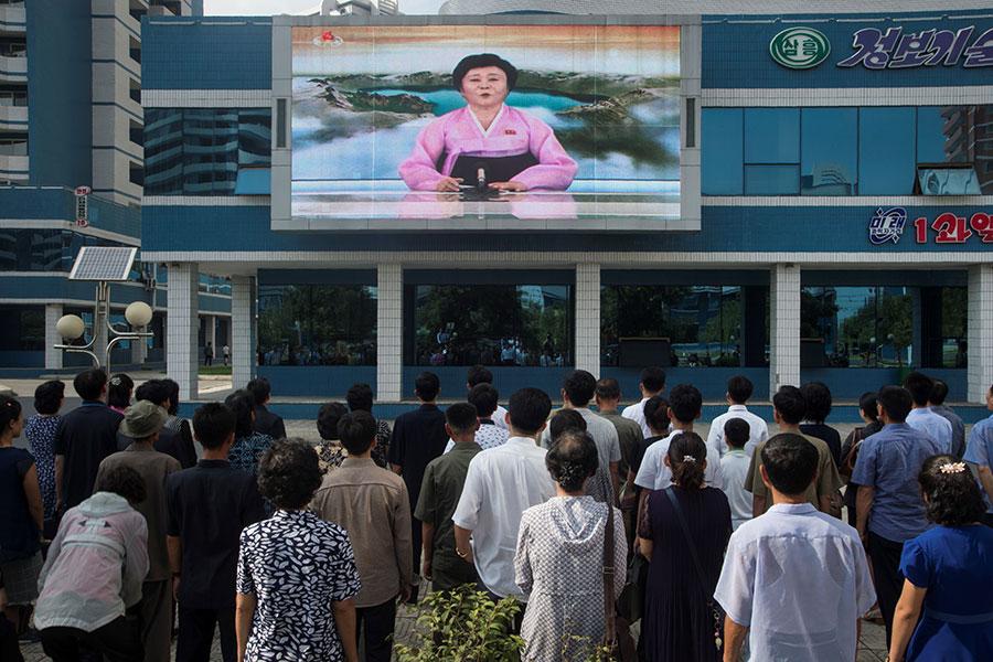 北韓的核試或許令人擔心,然而,專家更憂心的是,核試所引發的地震,可能會造成長白山火山爆發,導致比氫彈更可怕的災難性後果。(KIM WON-JIN/AFP/Getty Images)