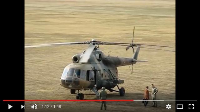 圖為米爾8型(Mil Mi-8)直昇機。(視像擷圖)