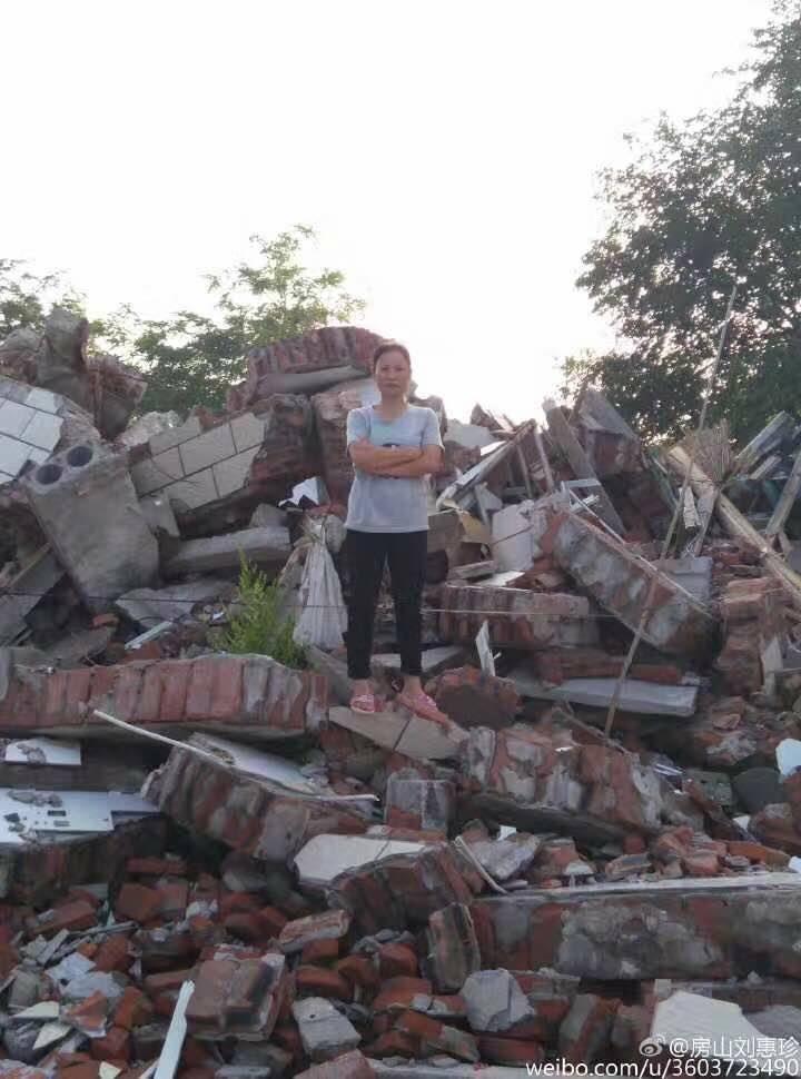 原本美麗的家園成了一片廢墟。(劉惠珍提供)