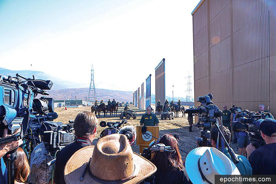 美墨邊境牆模型於聖地亞哥完工 將接受檢驗