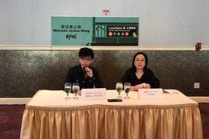 黃之鋒訪美 紐約媒體會上談香港民主前景