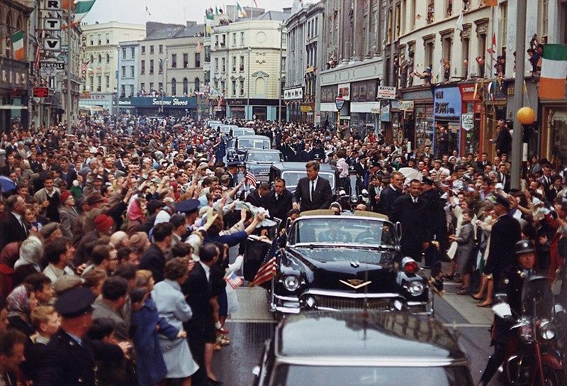 1963年6月28日,甘迺迪總統在愛爾蘭。(維基百科)