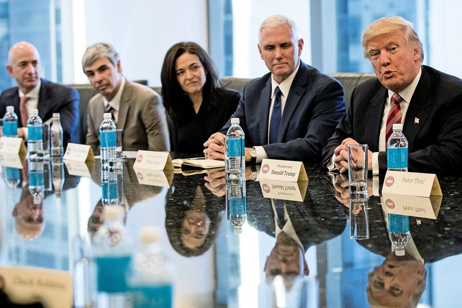 特朗普訪華40位企業領袖隨行