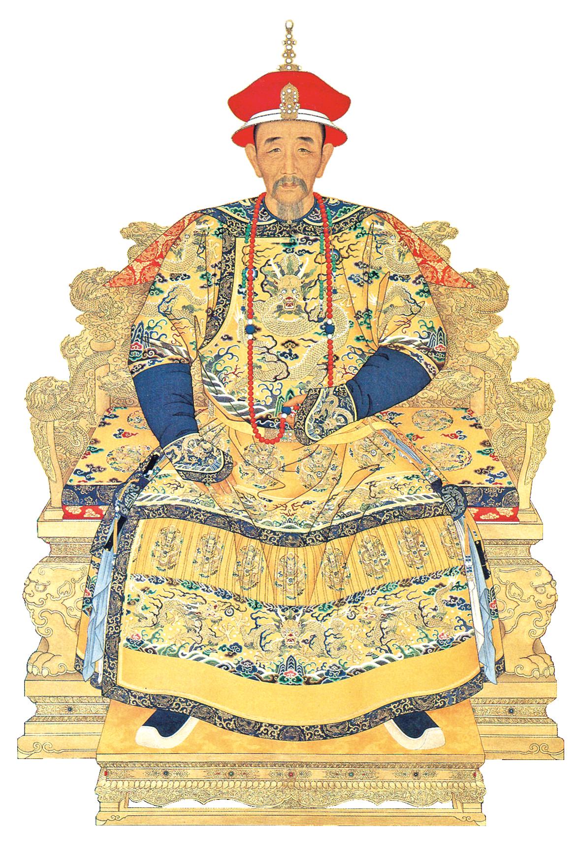 清康熙大帝。宮廷畫家繪。(公有領域)