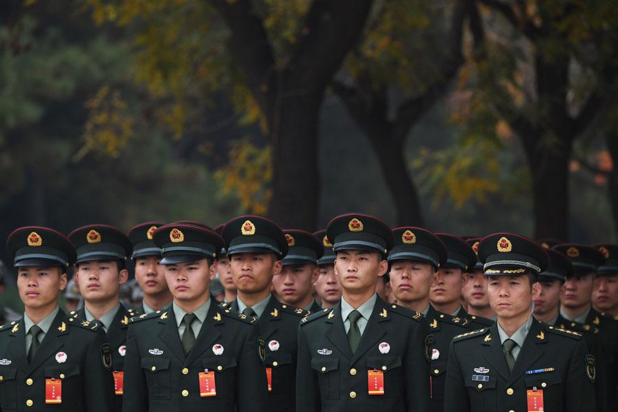 習陣營全面上位、在政治局常委佔據重要位置,預示著「十九大」後政局的變化和發展節奏將會加快。 (GREG BAKER/AFP/Getty Images)