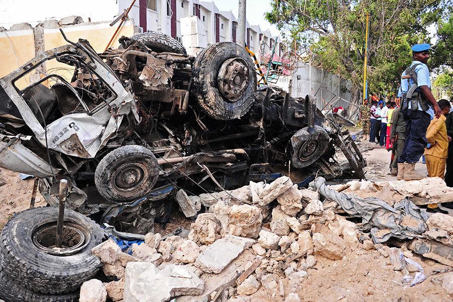 索馬里酒店遇炸彈襲擊25死 30人質已獲救