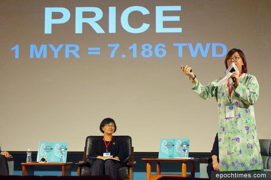 台中市民宿協會秘書長賴淑薇(右一)說,馬國人非常喜歡台灣,呼籲業者不要因馬幣貶值而降價攬客,而是要重新包裝產品。(黃玉燕/大紀元)