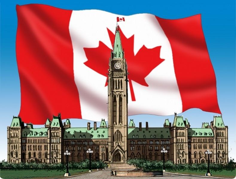 1982年4月,在渥太華國會山,英女皇伊利沙伯二世和加拿大總理杜魯多(Pierre Trudeau)在公共禮典中一起簽署了1982年《加拿大憲法》。(photos.com)