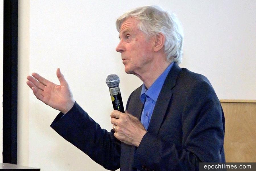 大衛・喬高於加州大學爾灣分校(UCI)參與《難以置信》紀錄片放映座談中提到,中共從未停止活摘人體器官的惡行。(王姿懿/大紀元)
