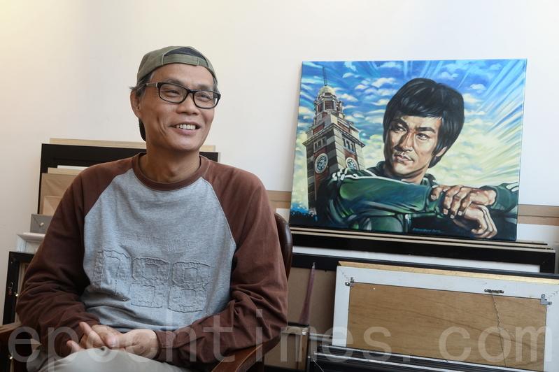 香港漫畫家周少康。(宋碧龍/大紀元)