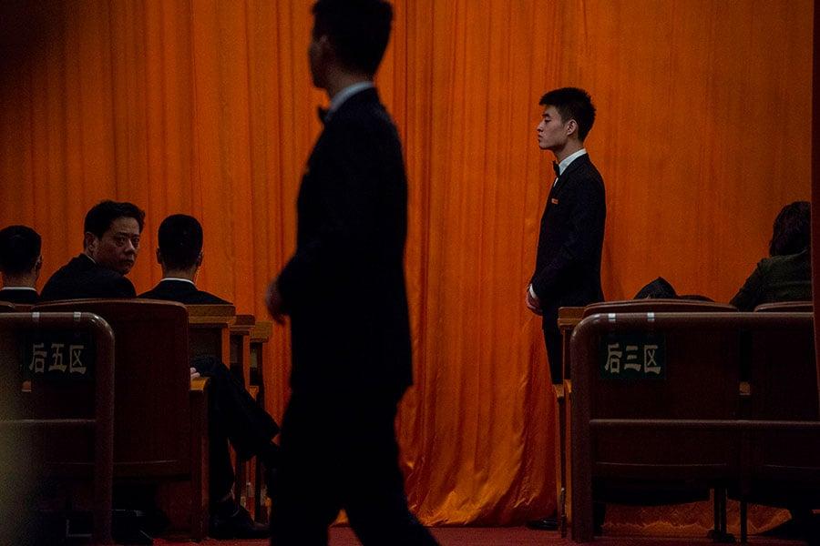 中紀委十九大報告確認了成立國家監察委的消息。(FRED DUFOUR/AFP/Getty Images)