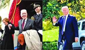 批媒體不公 前總統卡特挺特朗普