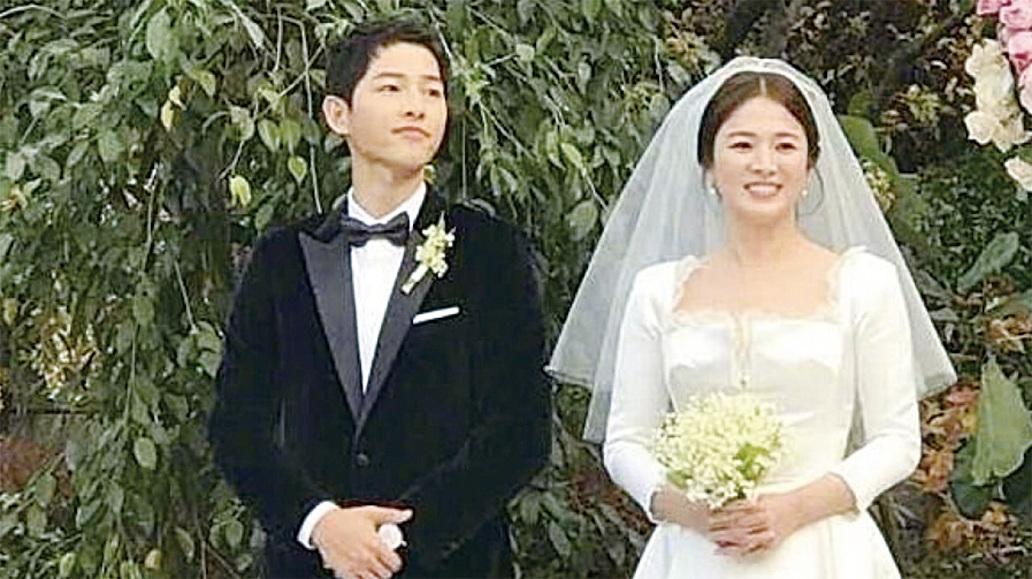 宋仲基宋慧喬首爾舉行世紀婚禮。(網絡圖片)