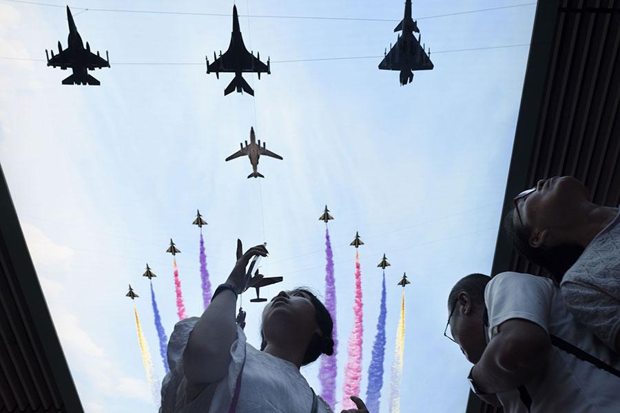 對駐守在太平洋區域的美軍來說,相較於北韓核武危機,來自中共的潛在威脅更令人擔憂。(WANG ZHAO/AFP/Getty Images)