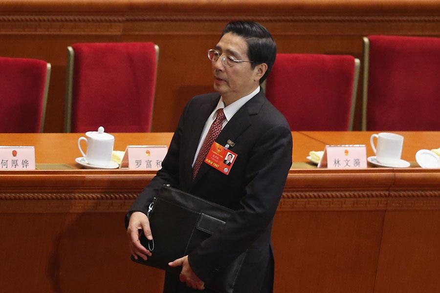 今年中共兩會後,政法委書記郭聲琨的權力再次被削弱。(Feng Li/Getty Images)