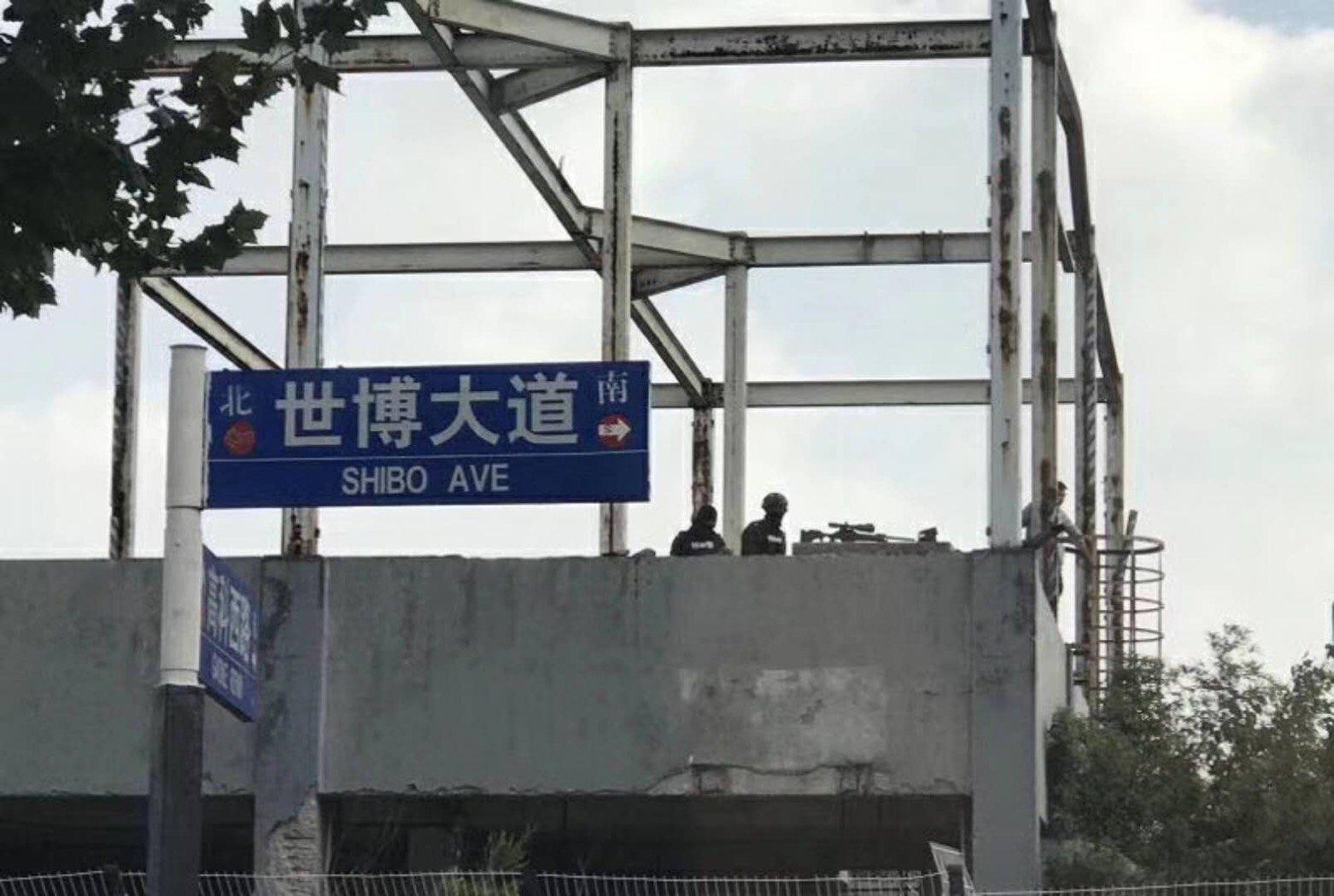 因為七名常委的到來,上海警方發出緊急通知要求做好各項保安工作。(微信圖片)