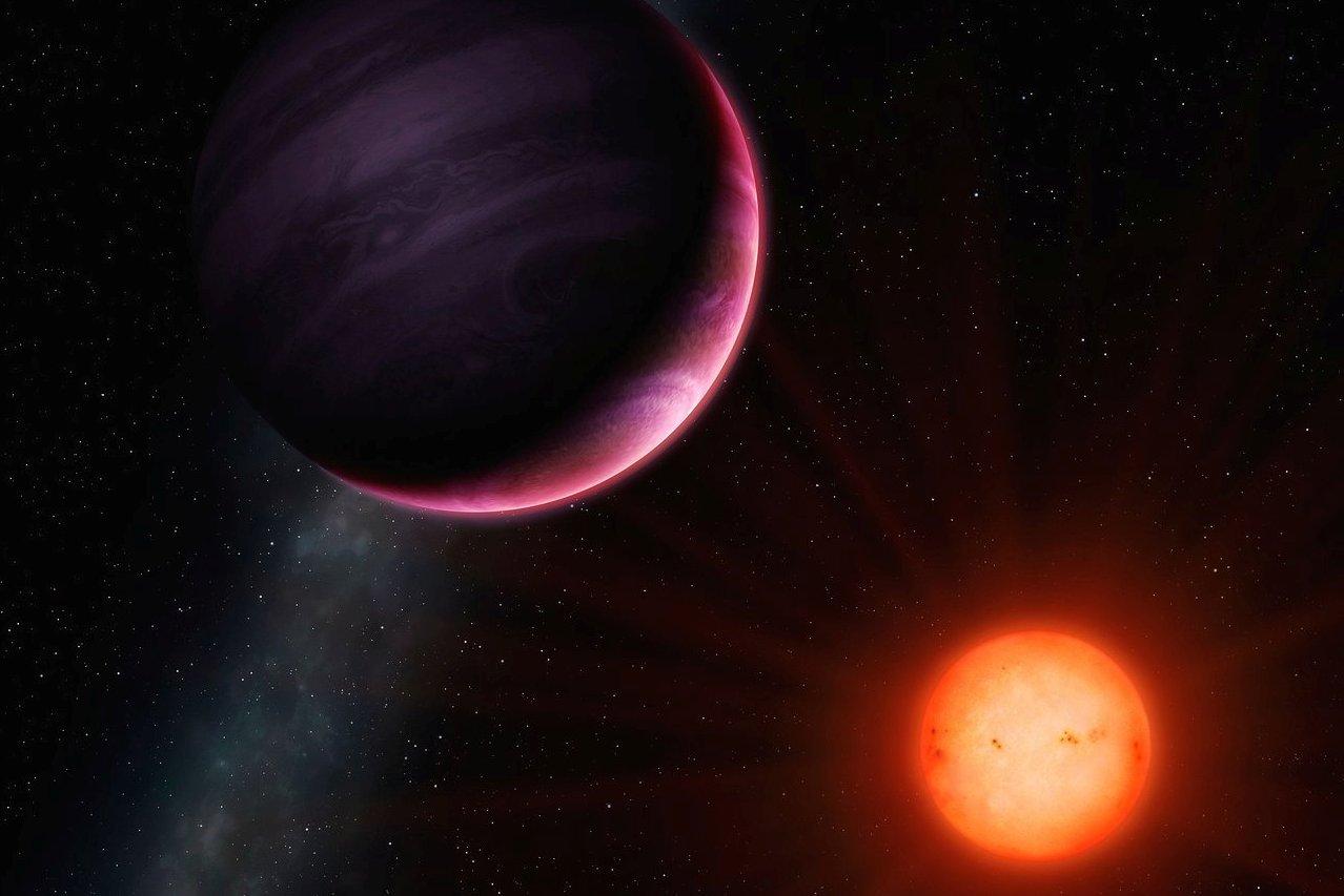 NGTS-1b(上)想像圖。(來源:歐洲南方天文台/University of Warwick/Mark Garlick)