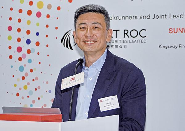 本港新興印刷CEO陳志堅。(宋碧龍/大紀元)