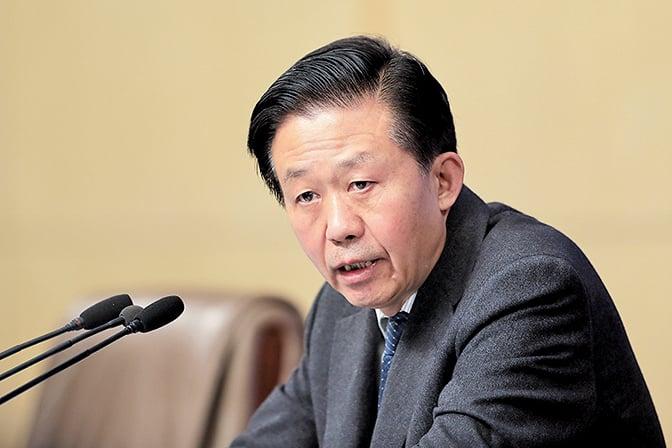 中共財政部部長肖捷兼任中央國家機關工委書記。(Getty Images)