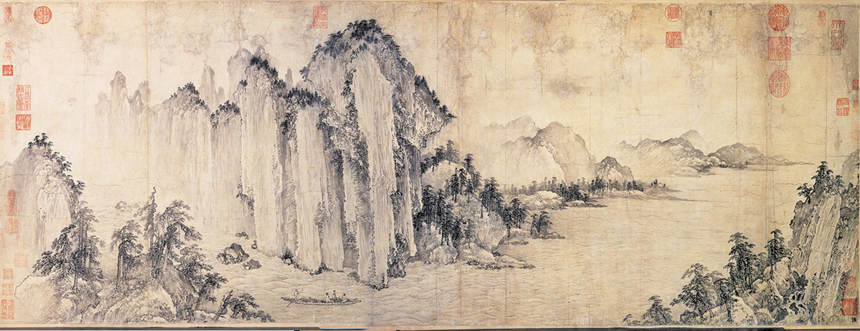 赤壁圖 金 武元直,現藏台北故宮博物院。(公有領域)