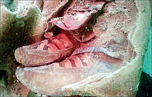 千年木乃伊 「Adidas球鞋」陪葬