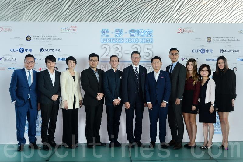 法國文化推廣辦公室將於11月23至25日上演「光.影.香港夜」,將維港兩岸16個地標景點同時間燃亮,以璀璨光影突顯香港的歷史建築和藝術文化。(宋碧龍/大紀元)