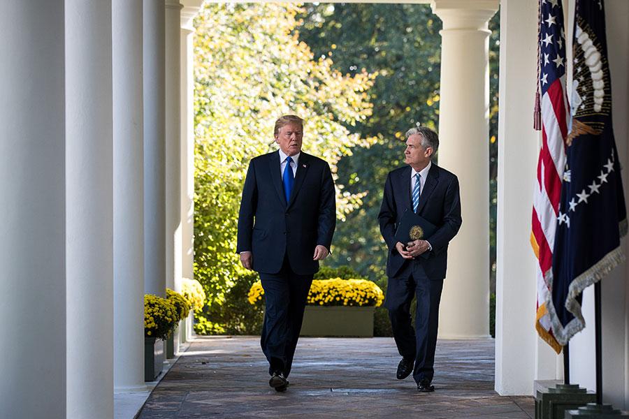 美聯儲主席耶倫(Janet Yellen)的任期將於明(2018)年2月屆滿,總統特朗普周四(11月2日)正式提名美聯儲理事鮑威爾(Jerome Powell)接替。(Drew Angerer/Getty Images)