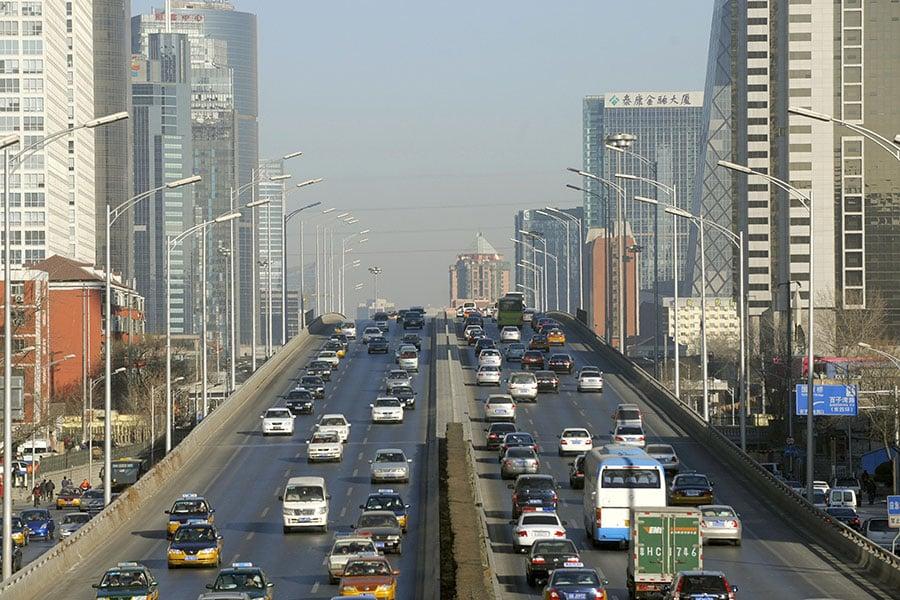 圖為北京市中心一景。(LIU JIN/AFP/Getty Images)