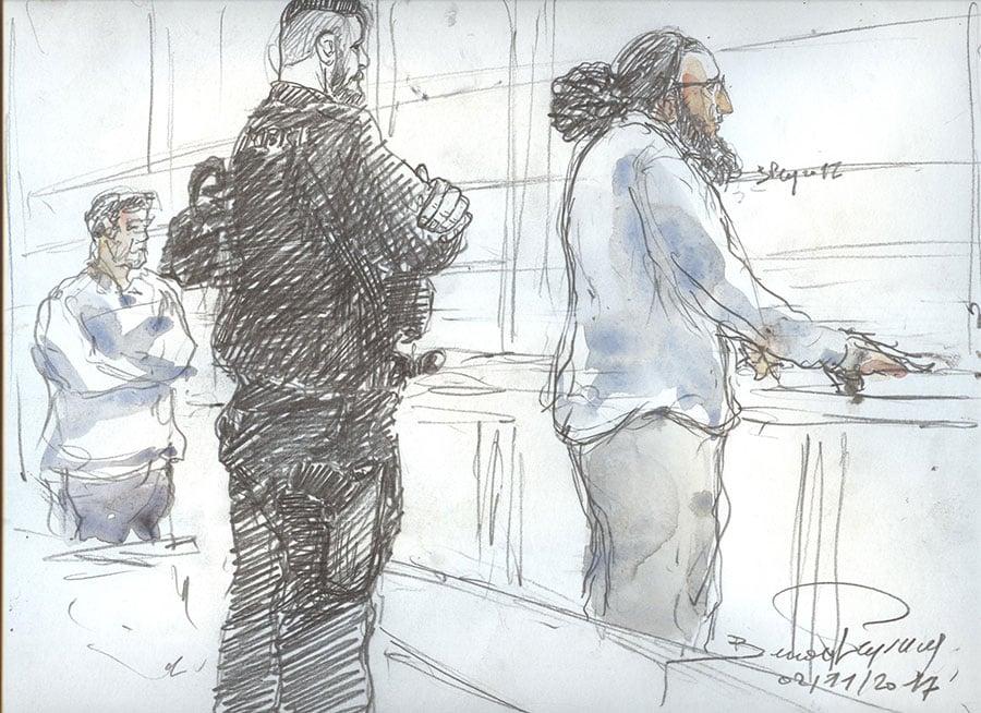 11月2日,巴黎重罪法庭以「協同刑事犯罪的恐怖主義罪犯」的名義判處35歲的阿布德拉代爾・梅拉赫(Abdelkader Merah)20年徒刑。(BENOIT PEYRUCQ/AFP/Getty Images)