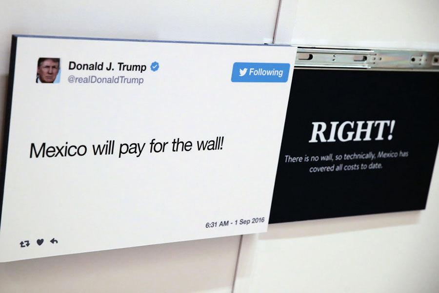 隨行訪華美國記者忙翻牆 特朗普有招發推特