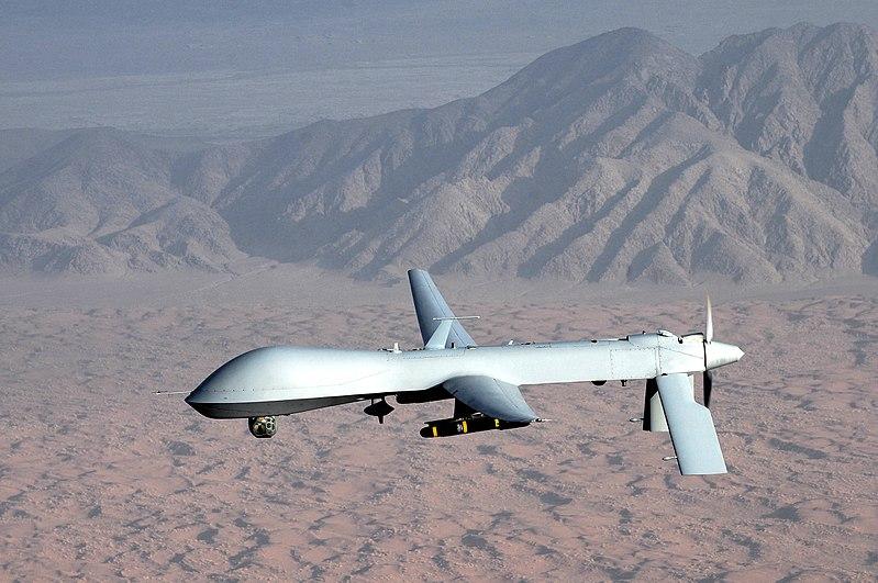 美軍首次空襲IS在索馬里的據點。圖為美國軍方無人機。(維基百科)