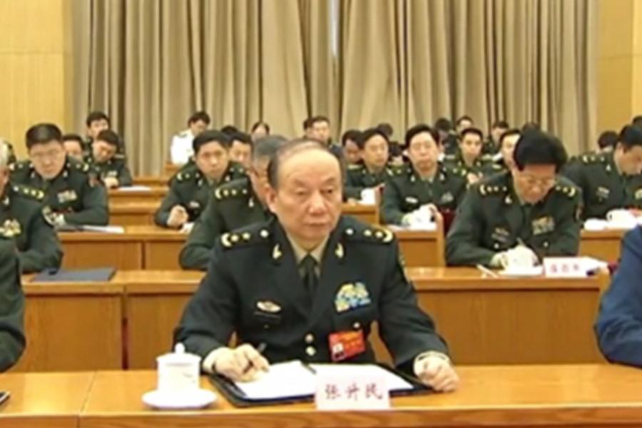 中共中央軍委委員、軍紀委書記張升民日前晉升上將軍銜。(視像擷圖)