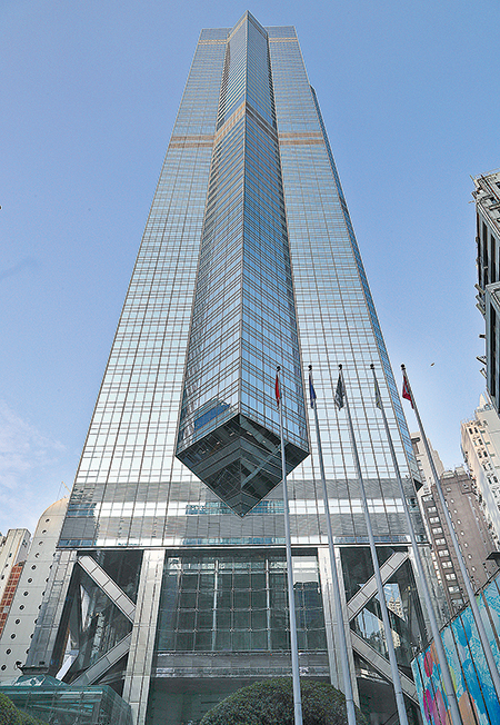中環中心由有中共官方背景和本港「福建幫」成員組成的公司,以超高價402億港人購入。(大紀元資料圖片)