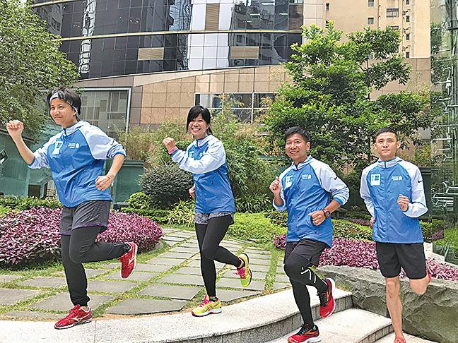 左起:吳凱琪、陳惠美、金永強、黃冠良。(王文君/大紀元)