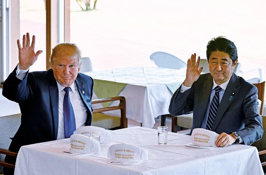 特朗普展開亞洲行首站日本