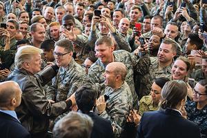特朗普稱日本為重要盟國 受駐日美軍歡迎