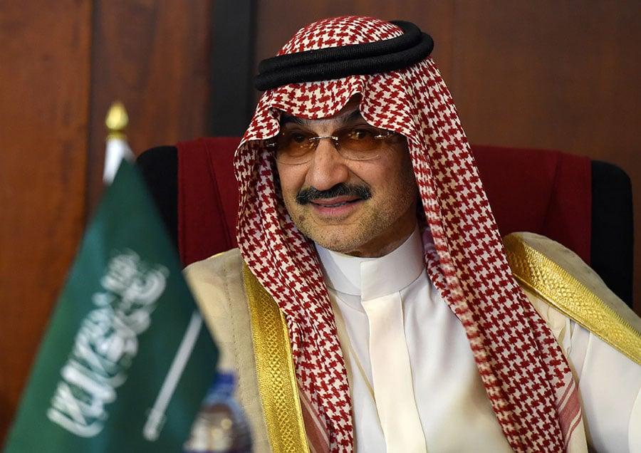 沙特阿拉伯反貪委員會拘捕了11名沙特王子、4名現任政府部長和十幾名前部長,包括沙特首富、全球著名億萬富翁塔拉勒(圖)。(ISHARA S. KODIKARA/AFP/Getty Images)