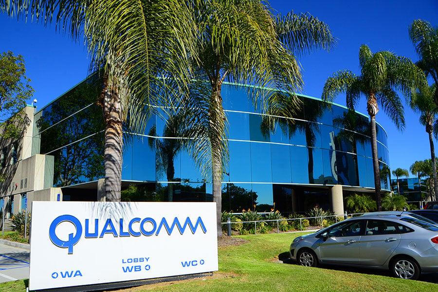 高通最初於2016年10月宣佈競購荷蘭半導體公司恩智浦半導體。圖為總部在加州聖地亞哥的高通公司。(李旭生/大紀元)