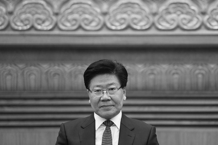 前新疆書記張春賢「十九大」出局。傳媒分析了其可能的去向。(Lintao Zhang/Getty Images)