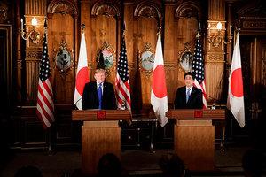 美日聯合記者會 特朗普重申對朝戰略耐心結束