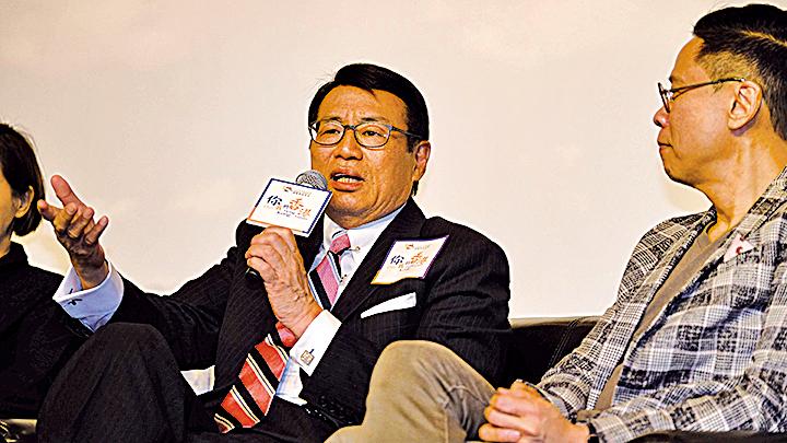 梁永祥與在場人士分享其十六字真言:「簡簡單單、好好睇睇、老老實實、公公道道」的處事原則。
