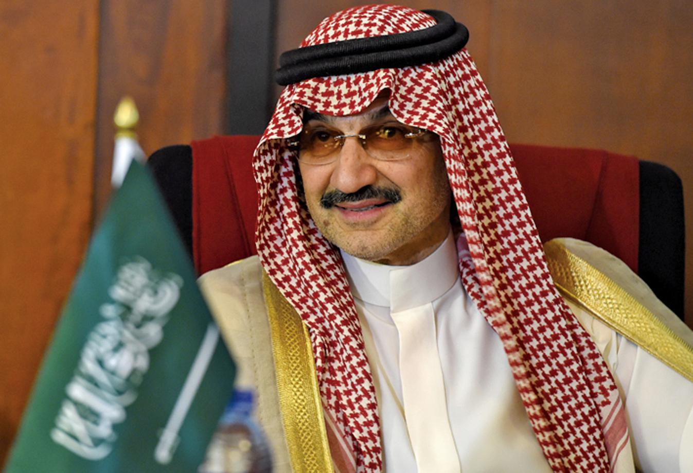 沙特首富、全球著名億萬富翁塔拉勒。(AFP)