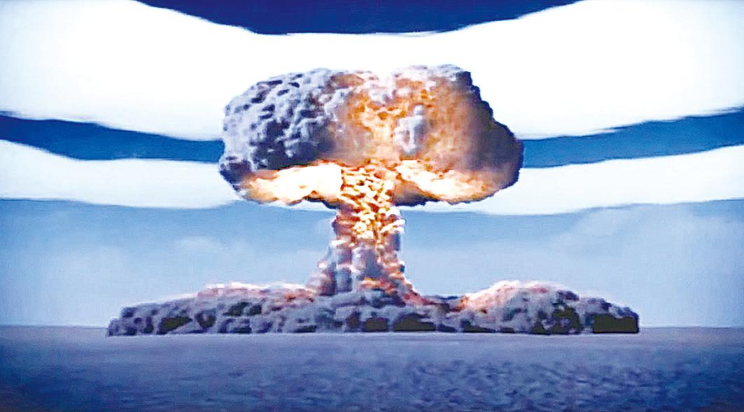 1961年10月,前蘇聯引爆了人類歷史上最強大的一顆炸彈──氫彈AN602。新發現的核聚變所釋放的能量比氫彈強八倍。(影片截圖)