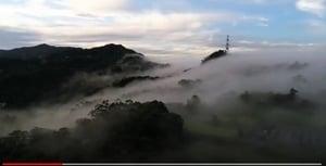 台灣新北市現雲瀑美景 排山倒海氣象萬千