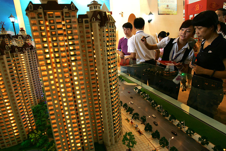 日前,陝西西安市樓市限售再升級。外界關注,在限售下,大陸樓市進入「冰凍期」,炒房者再不賣房恐怕來不及了。(China Photos/Getty Images)