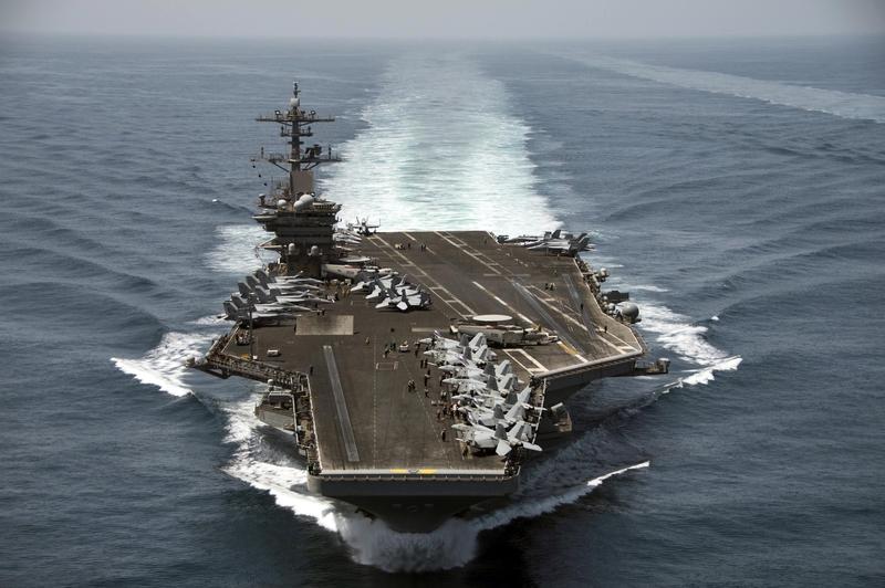 圖為美國羅斯福號航空母艦。(美國海軍)