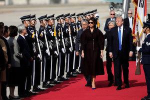 特朗普抵韓先訪駐軍 展開24小時國是訪問