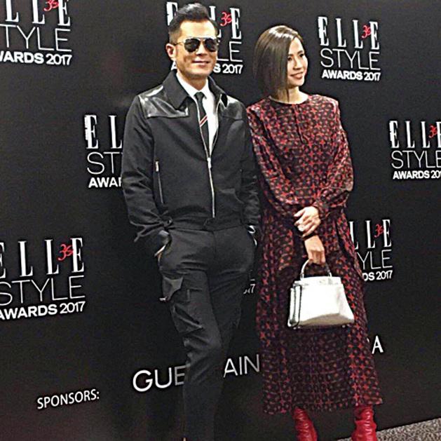 古天樂與宣萱出席時尚活動,大家表示好期待來臨會有機會合作拍電影。(古天樂微博)