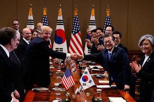 特朗普訪韓放寬導彈彈頭限重 可毀朝地下堡壘