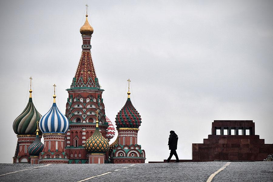 11月7日是俄國十月革命100周年,今年俄國官方沒有紀念活動,人民也興致缺缺。圖為莫斯科紅場。(AFP)